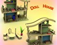 Doll House Set 02 3d model