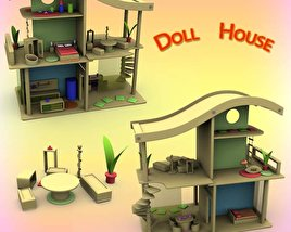3D model of Doll House Set 02