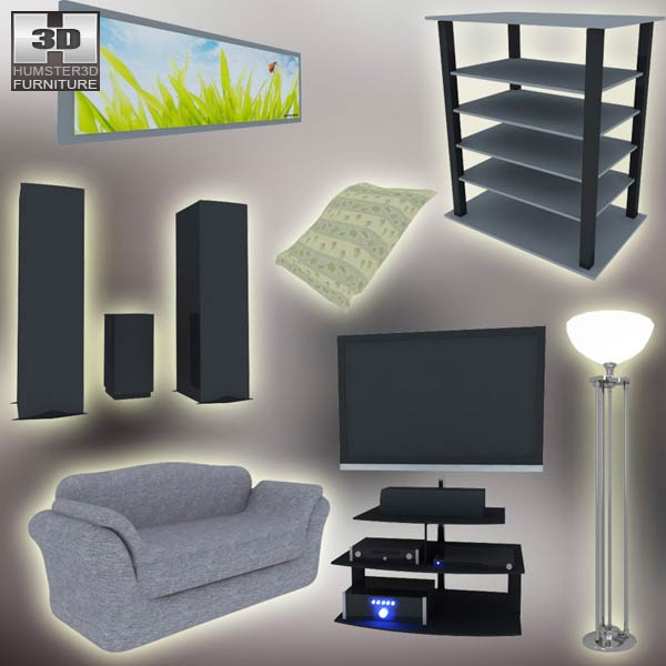 3D model of Home Theater Set 03