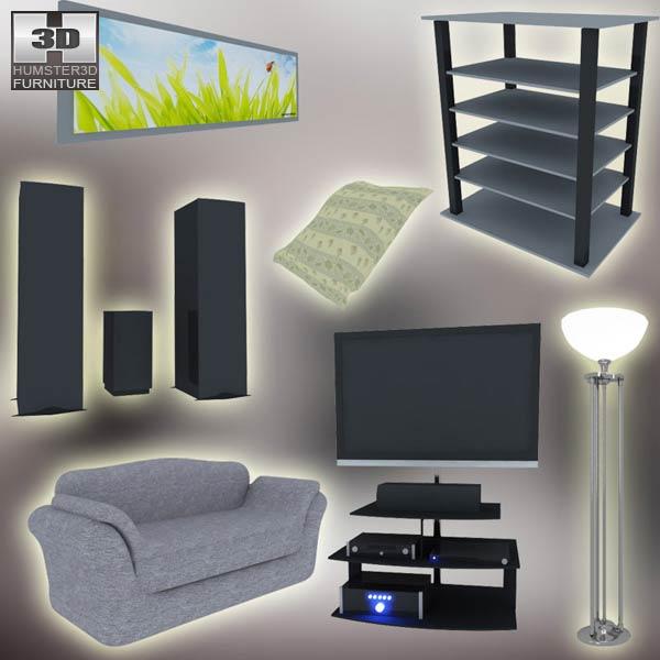 Home Theater Set 03 3D model