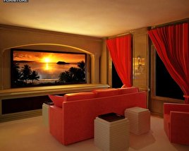 3D model of Home Theater Set 04