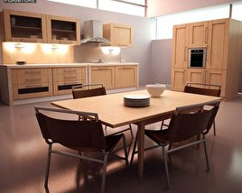 3D model of Kitchen Set I1