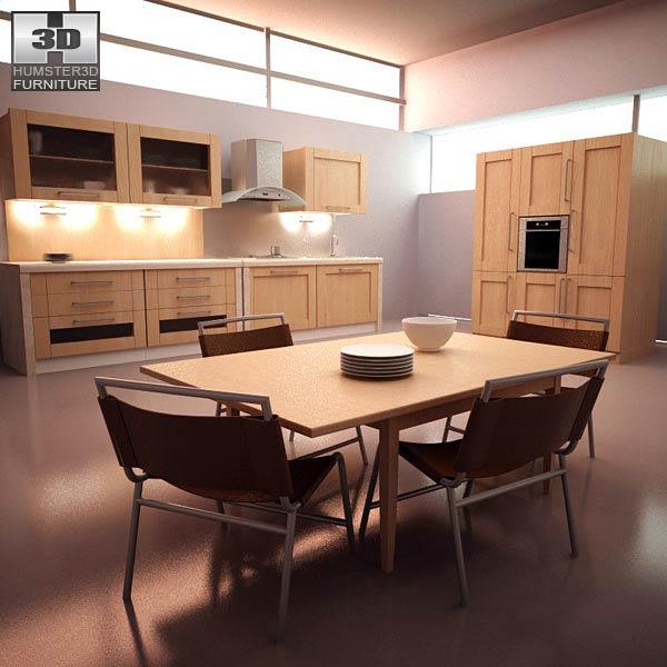 Kitchen Set I1 3D model