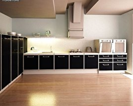 3D model of Kitchen Set I2