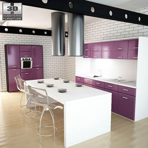 Kitchen Set I3 3D model