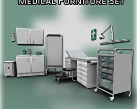 3D model of Medical Furniture Set