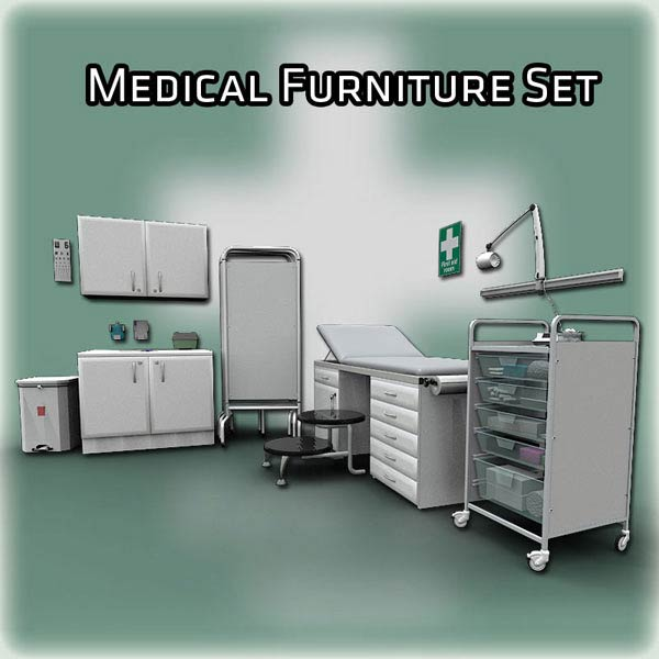 Medical Furniture Set 3D model