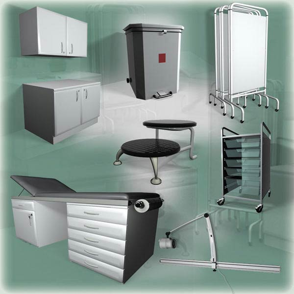Medical Furniture Set 3d model