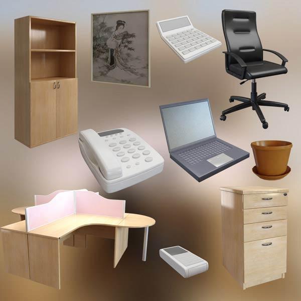 Office Set P07 3d model