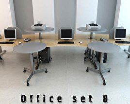 3D model of Office Set P08