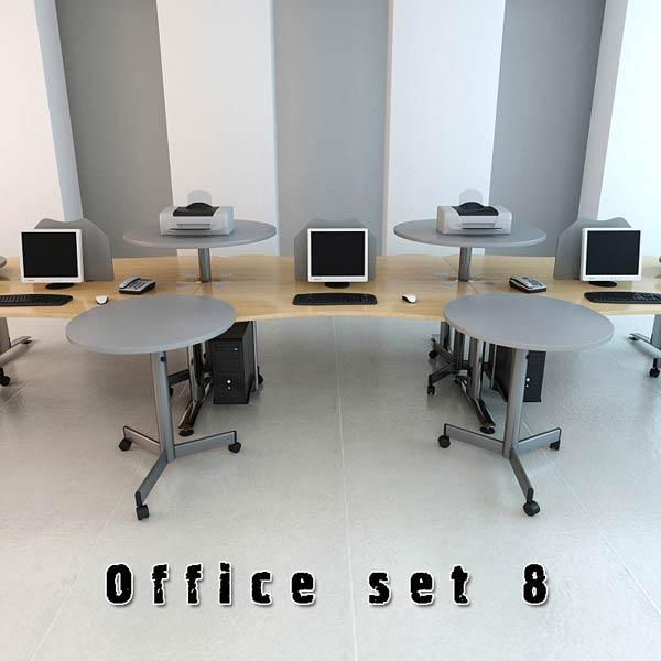 Office Set P08 3D model