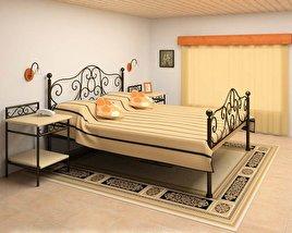 Bedroom furniture set 11 3D model