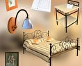 Bedroom Furniture 11 Set 3d model