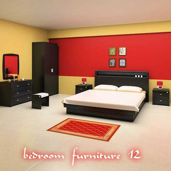 3D model of Bedroom Furniture 12 Set