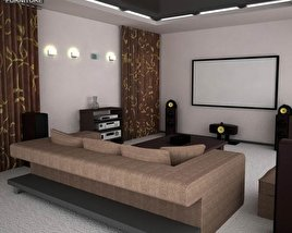 3D model of Home Theater Set 05