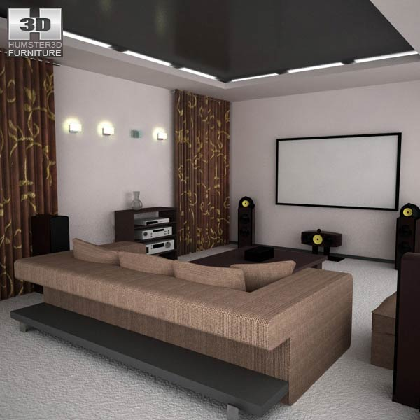 Home Theater Set 05 3d model