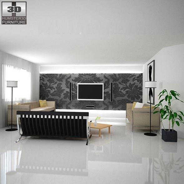 Home Theater Set 02 3D model