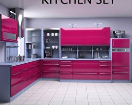 3D model of Kitchen Set P2
