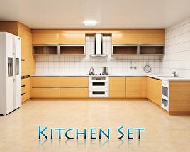 3D model of Kitchen Set P1