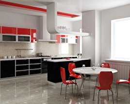 3D model of Kitchen Set P4