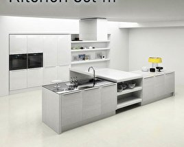 3D model of Kitchen Set P3