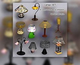 3D model of Lamps Set