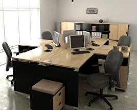 3D model of Office Set P06