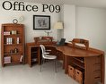 Office Set P09 3d model