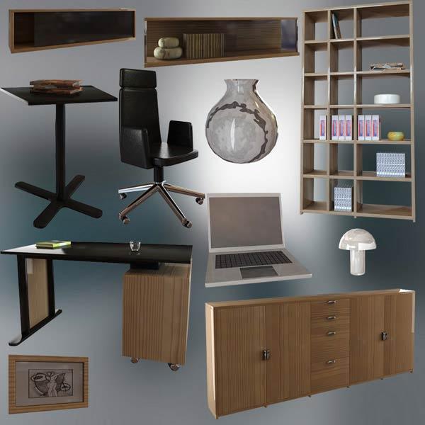 Office Set P12 3d model