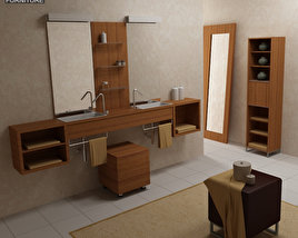 3D model of Bathroom Furniture 02 Set