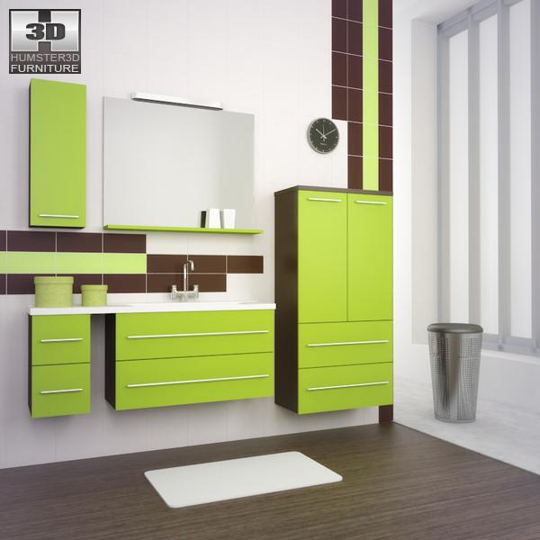 Bathroom Furniture 03 Set 3D model