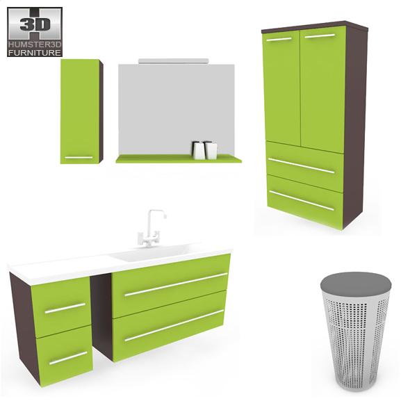 Bathroom Furniture 03 Set Modello 3D