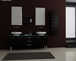 3D model of Bathroom Furniture 04 Set