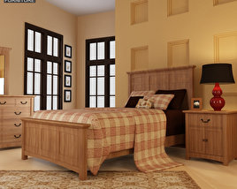 Bedroom furniture set 23 3D model