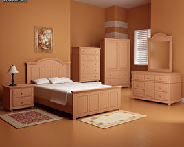 3D model of Bedroom Furniture 18 Set