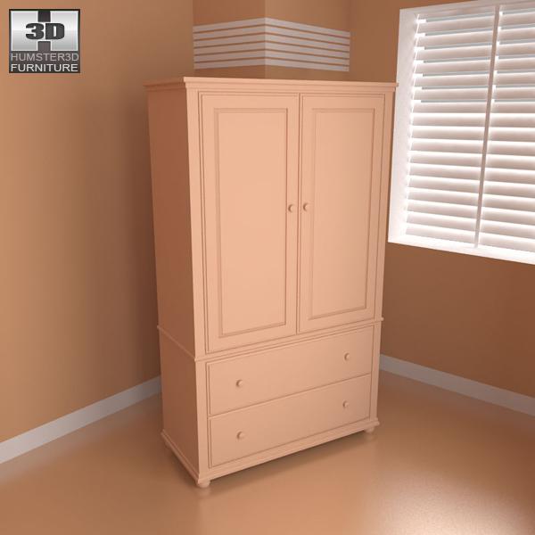 Bedroom furniture set 18 3d model