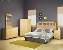 3D model of Bedroom Furniture 20 Set