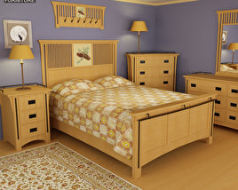 3D model of Bedroom Furniture 22 Set