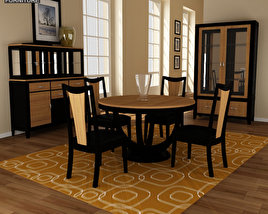 3D model of Dining Room 03 Set