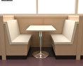 Dining room 04 Set – A Fast food Restaurant Furniture 3d model