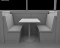 Dining room 04 Set – A Fast food Restaurant Furniture 3d model