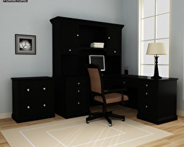 3D model of Home Workplace Furniture 06 Set