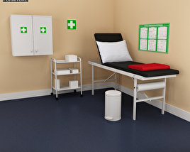 3D model of Hospital 02 Set - Medical Furniture