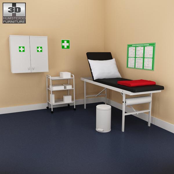 Hospital 02 Set - Medical Furniture 3D model