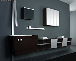 3D model of Bathroom Furniture 05 Set