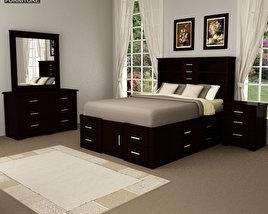 Bedroom furniture set 24 3D model
