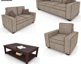 Living Room Furniture 07 Set 3d model