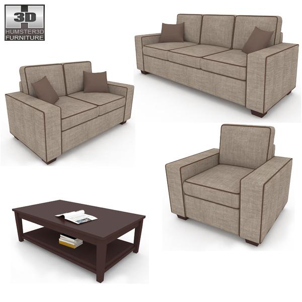 Living Room Furniture 07 Set 3d model