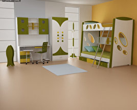 3D model of Nursery Room 07 Set