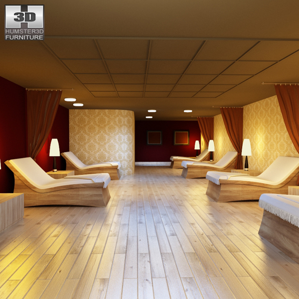 Rest Room 01 Set 3D model